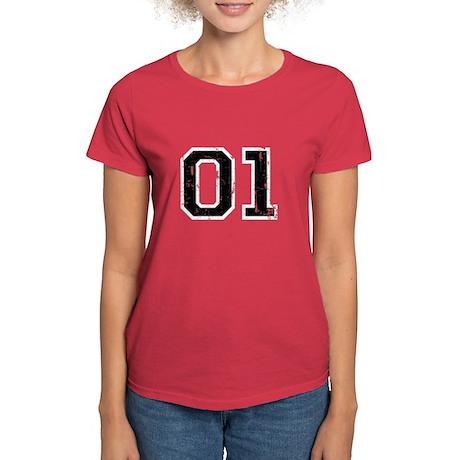 01 Distressed Women's Dark T-Shirt