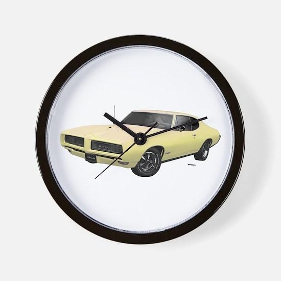 1968 GTO Mayfair Maize Wall Clock