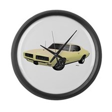 1968 GTO Mayfair Maize Large Wall Clock