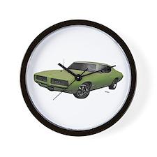 1968 GTO Springmist Green Wall Clock