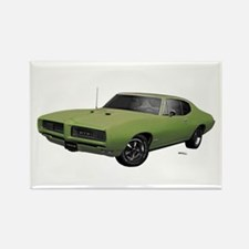 1968 GTO Springmist Green Rectangle Magnet