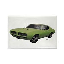 1968 GTO Springmist Green Rectangle Magnet (10 pac