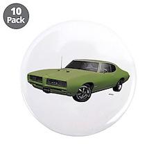 "1968 GTO Springmist Green 3.5"" Button (10 pack)"
