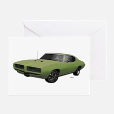 1968 GTO Springmist Green Greeting Card
