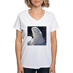 Beluga Whale Women's V-Neck T-Shirt