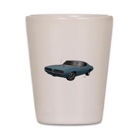 1968 GTO Aleutian Blue Shot Glass