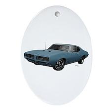 1968 GTO Aleutian Blue Ornament (Oval)