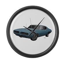 1968 GTO Aleutian Blue Large Wall Clock