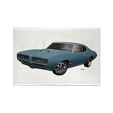 1968 GTO Aleutian Blue Rectangle Magnet (100 pack)