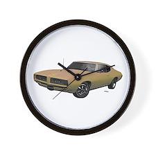 1968 GTO Primavera Beige Wall Clock