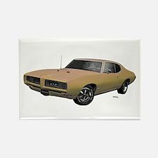 1968 GTO Primavera Beige Rectangle Magnet