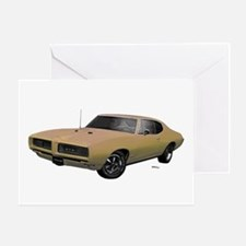 1968 GTO Primavera Beige Greeting Card