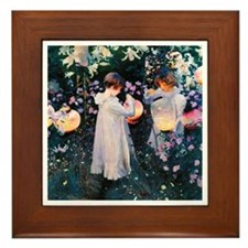 Sargent Carnation & Lily Framed Tile