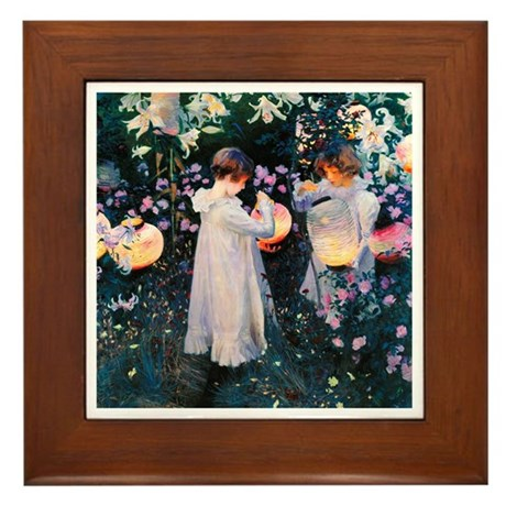 Sargent Carnation & Lily Framed Tile