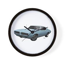 1968 GTO Nordic Blue Wall Clock