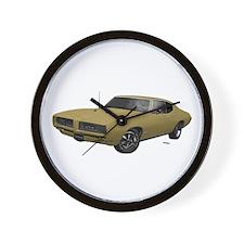 1968 GTO April Gold Wall Clock