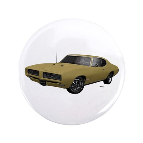 "1968 GTO April Gold 3.5"" Button"