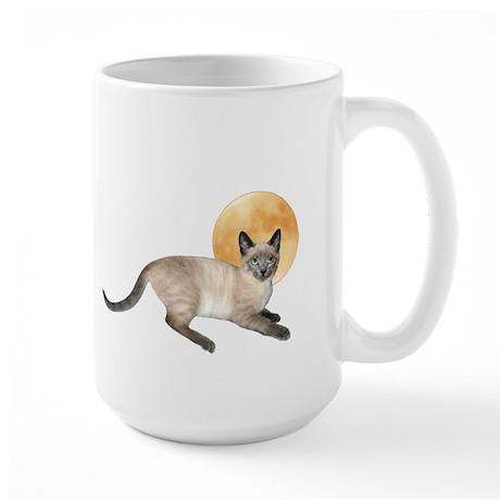 Full Moon Cat Large Mug