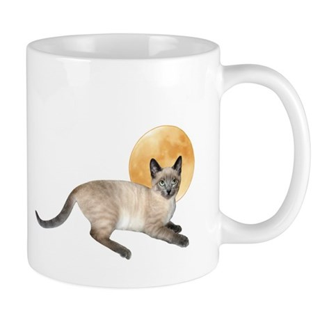 Full Moon Cat Mug