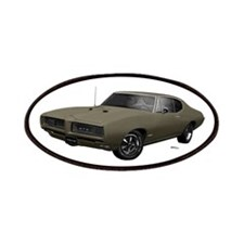 1968 GTO Nightshade Green Patches