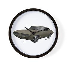 1968 GTO Nightshade Green Wall Clock