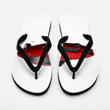 1968 GTO Solar Red Flip Flops