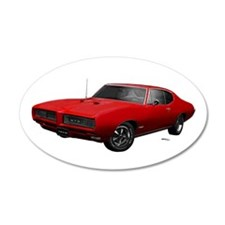 1968 GTO Solar Red 22x14 Oval Wall Peel