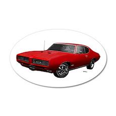 1968 GTO Solar Red 22x14 Oval Wall Peel