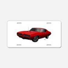 1968 GTO Solar Red Aluminum License Plate
