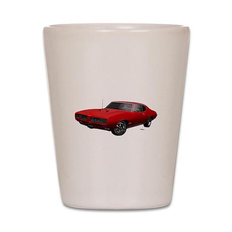 1968 GTO Solar Red Shot Glass