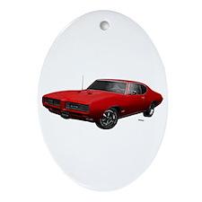 1968 GTO Solar Red Ornament (Oval)