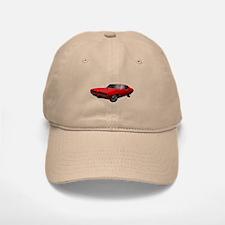 1968 GTO Solar Red Baseball Baseball Cap