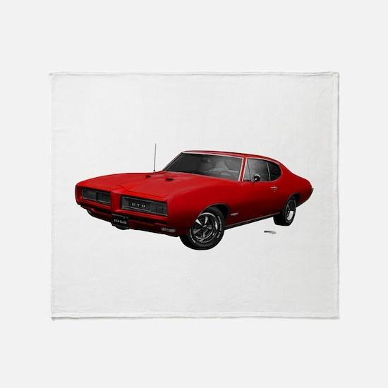 1968 GTO Solar Red Throw Blanket