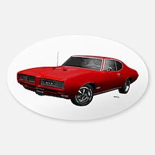 1968 GTO Solar Red Sticker (Oval)