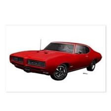 1968 GTO Solar Red Postcards (Package of 8)