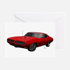 1968 GTO Solar Red Greeting Card