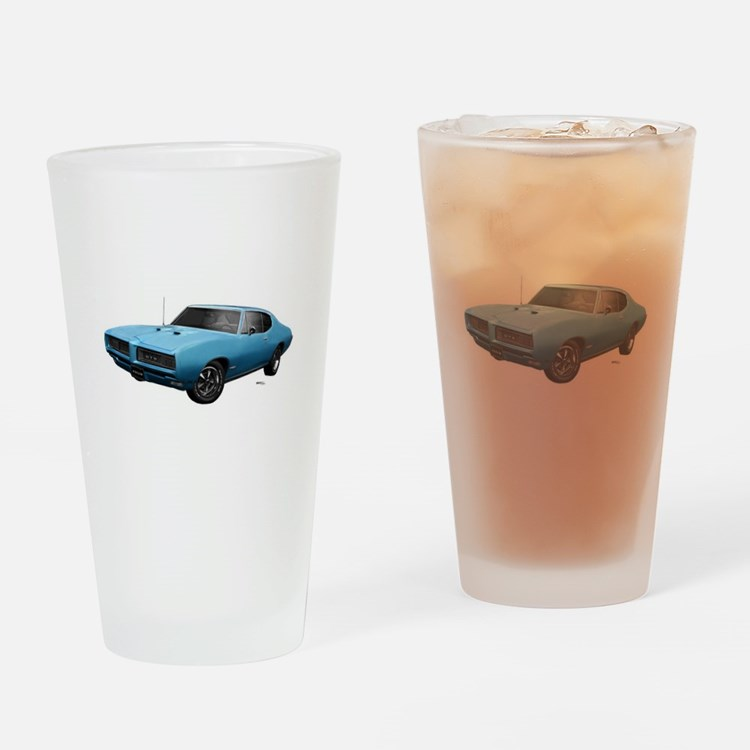1968 GTO Meridian Turquoise Drinking Glass