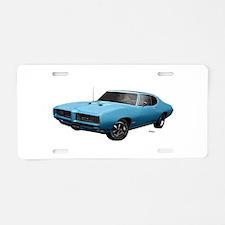 1968 GTO Meridian Turquoise Aluminum License Plate