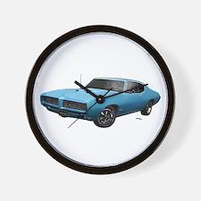 1968 GTO Meridian Turquoise Wall Clock