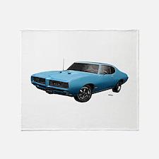 1968 GTO Meridian Turquoise Throw Blanket