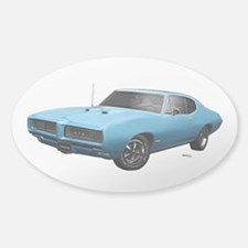 1968 GTO Meridian Turquoise Sticker (Oval)