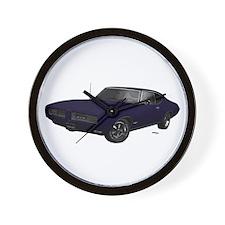 1968 GTO Aegenda Blue Wall Clock