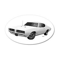 1968 GTO Cameo Ivory 22x14 Oval Wall Peel