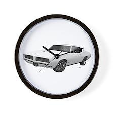 1968 GTO Cameo Ivory Wall Clock