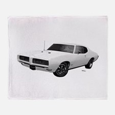 1968 GTO Cameo Ivory Throw Blanket