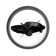 1968 GTO Starlight Black Wall Clock