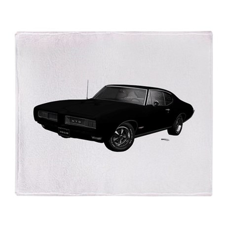 1968 GTO Starlight Black Throw Blanket