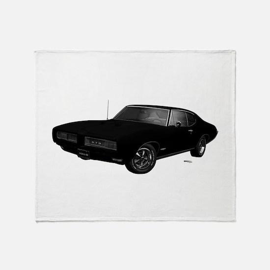 1968 GTO Starlight Black Throw Blanket