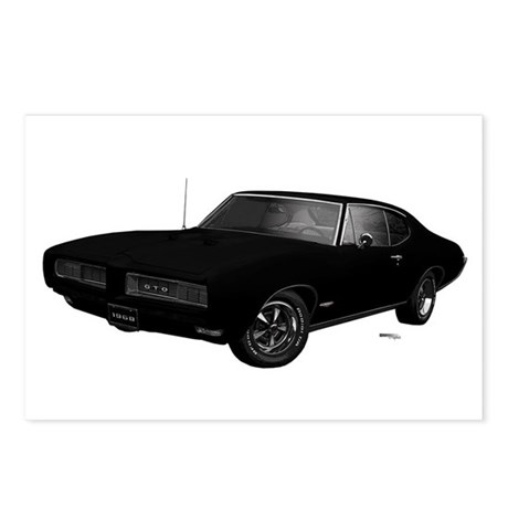 1968 GTO Starlight Black Postcards (Package of 8)