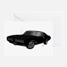 1968 GTO Starlight Black Greeting Card